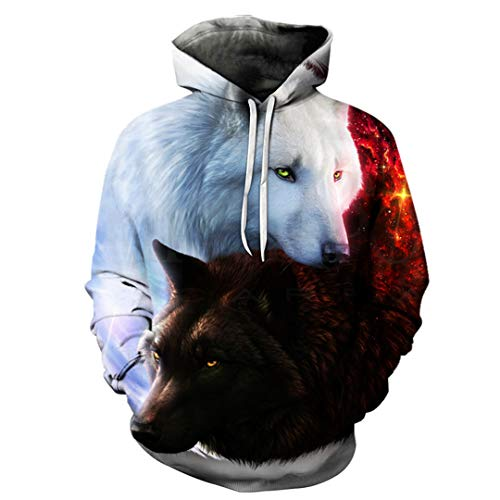 3D Wolf Printed Boy Jackets Quality Pullover Tracksuits Animal Streetwear Out Coat