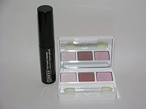 Clinique All About Eye Shadow Trio 06 Pink Chocolate 1.9g mirror compact and High Impact Mascara 3.5ml