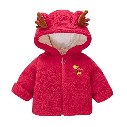 Livoral Kinder Winter Mantel Kleinkind Kinder Baby Jungen Mädchen Wintermäntel Jacke Dicker Schneeanzug Hoodie Fleece(Rot,9)
