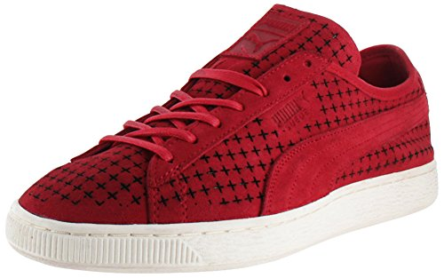 Sneakers Puma Suede Courtside Cour Chaussures perforées High Risk Red