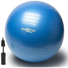Maximo Fitness Pelota de Ejercicio - Bola Suiza con Bomba de Inflado - Calidad Superior -