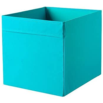 Ikea drona storage box blue for expedit shelving unit for Ikea box shelf unit