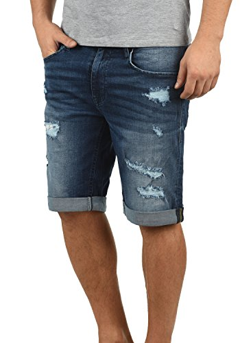 32fa451b3f Blend Deniz Herren Jeans Shorts Kurze Denim Hose Mit Destroyed-Optik Aus  Stretch-Material