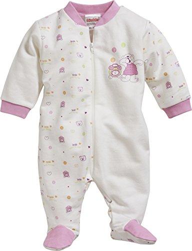 Schnizler Baby-Mädchen Schlafstrampler Schlafoverall Interlock Bär, Oeko-Tex Standard 100, Beige (Natur 2), 92