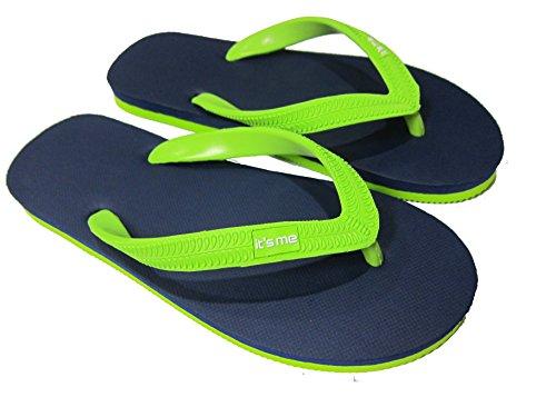 It´s Me | Unisex- Flip Flop | 100% Natur-Kautschuk | Extrem rutschfest und biegsam | Natur ohne PVC | Fühle den Unterschied ! blau-grün 43/44