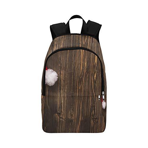 Santas Hut über Alten Grunge Holz lässig Daypack Reisetasche College School Rucksack für Männer und Frauen