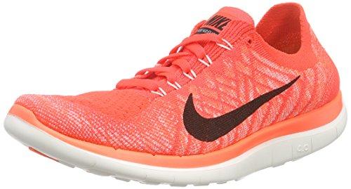 Nike Damen Free 4.0 Flyknit Laufschuhe, Orange