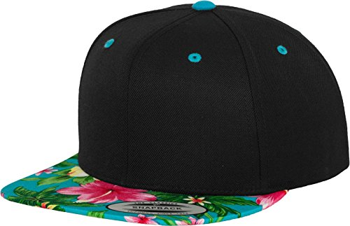 Flex fit Hawaiian Snapback blk/Aqua One Size Casquette Unisex-Adult