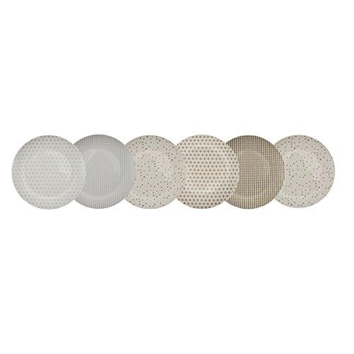 Auswirkungen Paris 40676Box von 6Dessertteller Keramik bunt 19x 19x 1cm