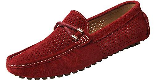 Yaer classiche mocassini scarpe uomo (rosso eu43)