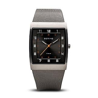 Bering Classic – Reloj analógico de mujer de cuarzo con correa de acero inoxidable gris – sumergible a 50 metros