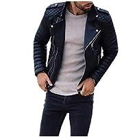 EnergyMen Racer Zip Up Plus-Size Fashion Trench Coat Jacket Black L