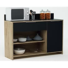 Muebles auxiliares de cocina para microondas for Mesa auxiliar de cocina para microondas