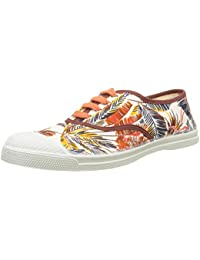 Bensimon Tennis Lacet Pencil Flowers, Baskets Basses Femme