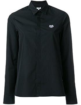 Kenzo Camicia Donna F762CH0805AP99 Cotone Nero