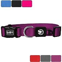 [Gesponsert]DDOXX Hundehalsband Nylon | für große, mittelgroße, mittlere & kleine Hunde | Halsband Hund | Hundehalsbänder | Katzen Halsbänder | Katzenhalsband | Zubehör | Lila, XS - 1,0 x 21-30 cm