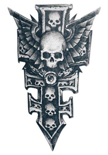 temporare-korperkunst-entfernbare-tattoo-aufkleber-schadel-3973-sticker-tattoo-temporary-tattoo-fash