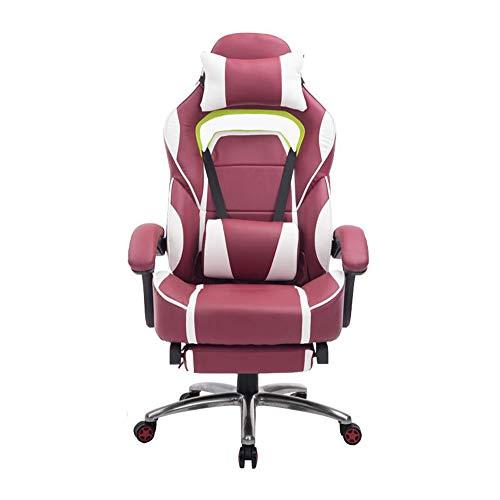 ch entworfener Computer-Stuhl-Spiel-Stuhl, laufender Sessellift, der mit Fußstützen für stützende Leute Sich dreht,Red ()
