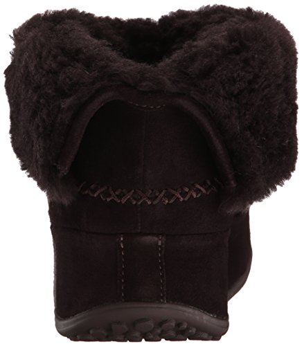 FitFlop Damen Mukluk Shorty High-Top Braun (Dunkelbraun)