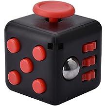 LA TECH - Fidget Cube Soulage le stress et l'anxiété pour les enfants et les adultes Fidget Cube Anti-stress - Multicolore