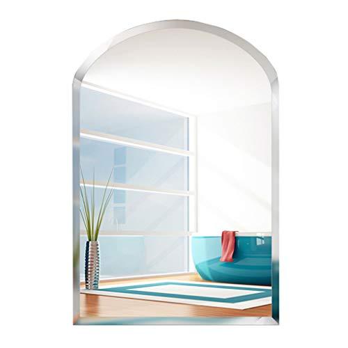 Badezimmerspiegel Wand Abgeschrägte Halbkreis Kosmetikspiegel für Wohnzimmer Schlafzimmer Dressing Dekorative Spiegel Eitelkeit Rasur Flur (45 cm x 60 cm) -