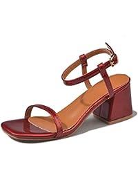Sandalias de tacón Alto Sandalias de Verano Hebillas de Verano Zapatos de tacón Alto y Zapatos