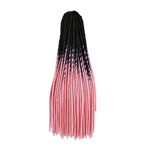 Hupoop Mode Perücke weiblichen schwarzen Farbverlauf Würfel Europa und Amerika verkaufen weibliche Farbe schmutzigen Skorpion Afrika 20inch / 51cm (D) -