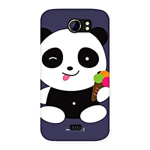 Neo World Ice Cream and Panda Back Case Cover for Micromax Canvas 2 A110
