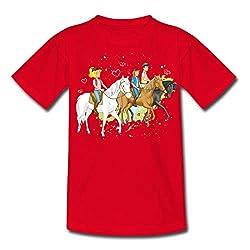 Bibi Und Tina Ausritt Mit Alexander Falkenstein Kinder T-Shirt, 122/128 (7-8 Jahre), Rot