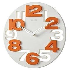 Idea Regalo - WINOMO Novità traforate 3D grandi cifre cucina Home Office Decor tondo orologio da parete a forma di orologio Art (bianco)