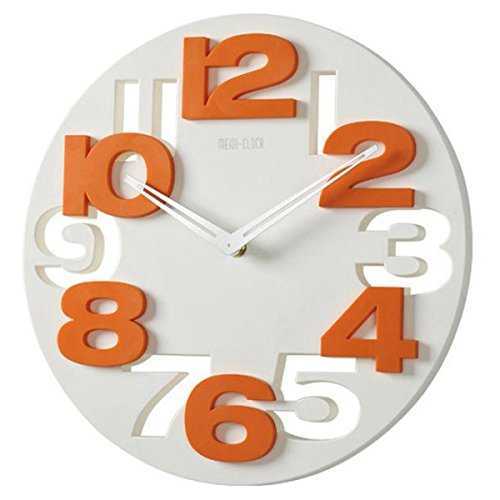 Tinksky novitÀ traforate 3d grandi cifre cucina home office decor tondo orologio da parete a forma di orologio art (bianco)