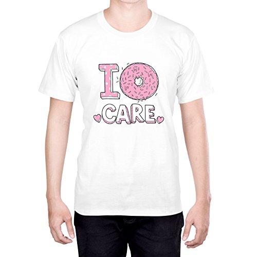Head Case Designs Donut Care Strati Pastello XL - Extra Large Bianco T-Shirt Uomo