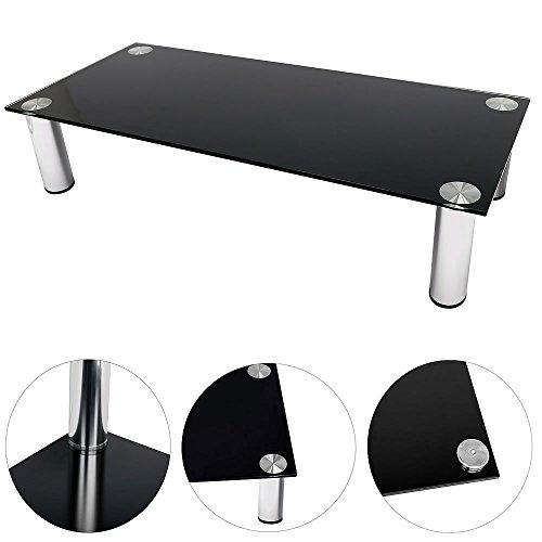 Melko® TV-Aufsatz Bildschirmerhöhung Monitorerhöhung Tisch Lowboard Beistelltisch Erhöhung für TV PC Montor, Schwarz, 100 cm