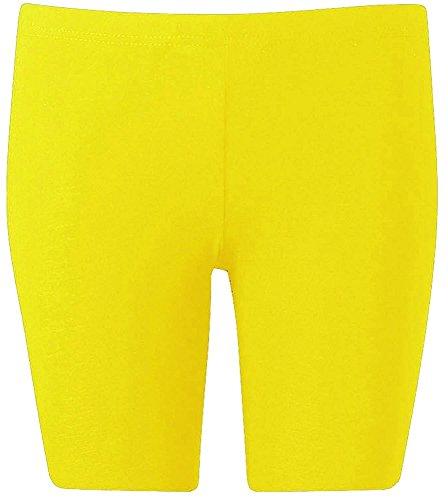 The Home of Fashion - Short de sport - Femme Multicolore Bigarré Jaune