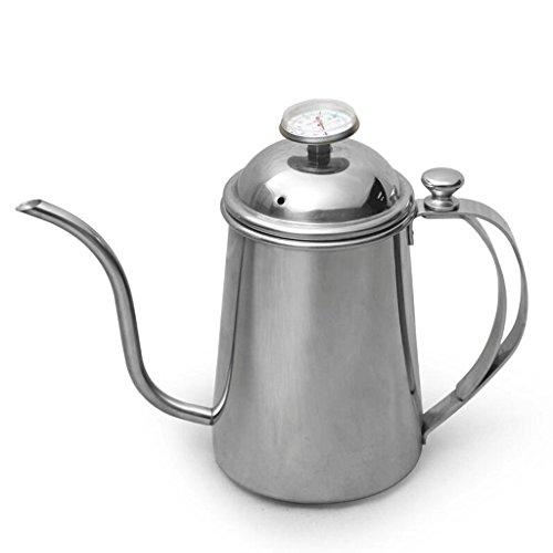 ZHAOJING Mano Punch Long Mouth Fine Coffee Pot 304 Termómetro de acero inoxidable Hogar Coffee Pot Aparato 700ml ( Estilo : B )