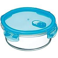 KitchenCraft Pure Seal Airtight Contenitore per alimenti per forno in vetro, piatto, 350 ml (12,5 fl oz), Vetro, trasparente, 950 ml (1.5 Pint)