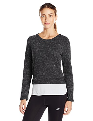 Marc New York Performance Damen Sweatshirt Space Dye 2-fer - Schwarz - Klein -