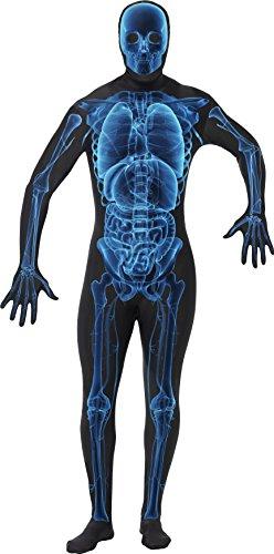 Smiffys, Herren Second Skin Röntgen Kostüm, Ganzkörperanzug, Größe: M, 21622
