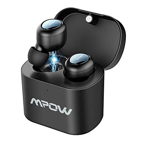 Mpow Ecouteurs sans Fil Bluetooth 5.0 Sport Oreillettes Bluetooth sans Fil Sport Mini Écouteur Intra-auriculaire Oreillettes Bluetooth Stéréo CVC 6.0 pour iPhone, Samsung, Huawei, etc.