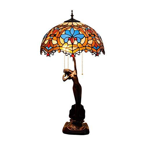 Lámpara De Mesa Vintage De Estilo Tiffany, Lámpara De Escritorio ...