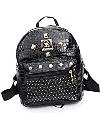 71f42fc7ef9c8 PU-Leder Nieten Punk Style Fashion Mini Tasche Rucksack