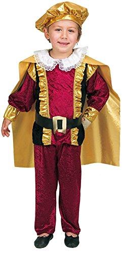 joker J287-002 - Principe Costume di Carnevale in Busta, Rosso e Oro