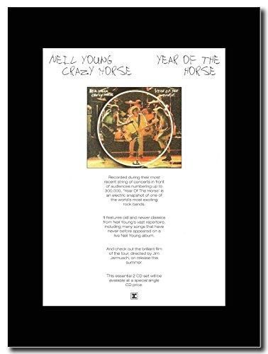 Looky Looky Neil Young & Crazy Horse, anno del cavallo Magazine Promo su un supporto, colore: nero
