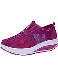 QUICKLYLY Zapatillas Deportivas Mujer/Hombres Running Zapatos Deporte Corriendo Calzado Casual Seguridad Deportivo Moda Malla