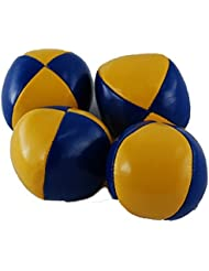 Para malabares 6,3cm en amarillo de azul, lisa, Bean Bag–malabares