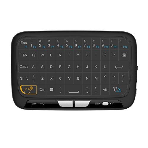 Mitid Mini Tastatur Maus Touchpad Fernbedienung Combos 2,4 GHz Wireless für Android TV Box, Google TV Box, IPTV, Smart TV und mehr