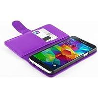 JAMMYLIZARD | Lederhülle für Samsung Galaxy S5 / S5 Neo / S5 Plus Ledertasche [ Wallet Tasche Series ] Leder Book Case Hülle Flip Cover Schutzhülle mit Kartenfach, Lila