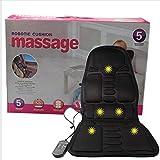 Goldyqin Massage-Matratze voller Körper Beheizte Massagematte Fernbedienung Kissen Faltbare