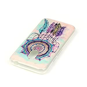 Cozy Hut Crystal Case Hülle für Motorola Moto G4 Play aus TPU Silikon[Scratch-Resistant],Handy-Hülle für Motorola Moto G4 Play weiß / Pink Transparent | Ultra Slim TPU Silikon Smartphone Case Indische Sonne Design klar, Ultra Slim Dünn weich Silikon TPU T