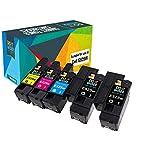 Do it wiser kompatible Toner als Ersatz für Dell E525w 593-BBLN 593-BBLL 593-BBLZ 593-BBLV (Bunt, 5er-Pack)